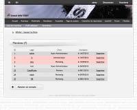 Capture d'écran : Liste des utilisateurs