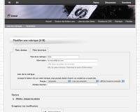 Capture d'écran : Modification d'une rubrique