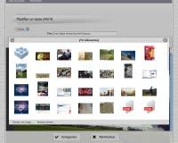 Capture d'écran : Ajout d'un fichier multimédia