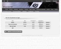 Capture d'écran : Service de paiement